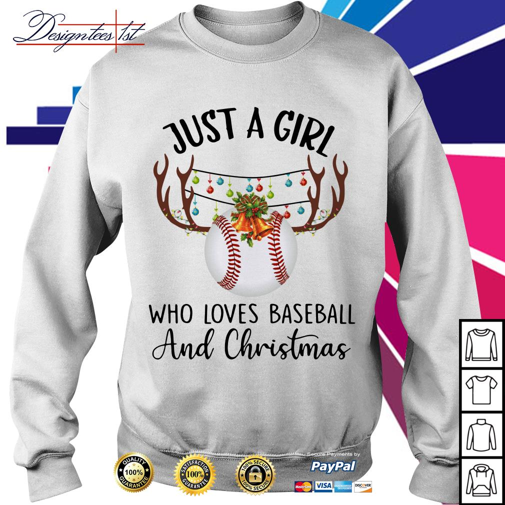 Just a girl who loves baseball and Chrisymas Sweater
