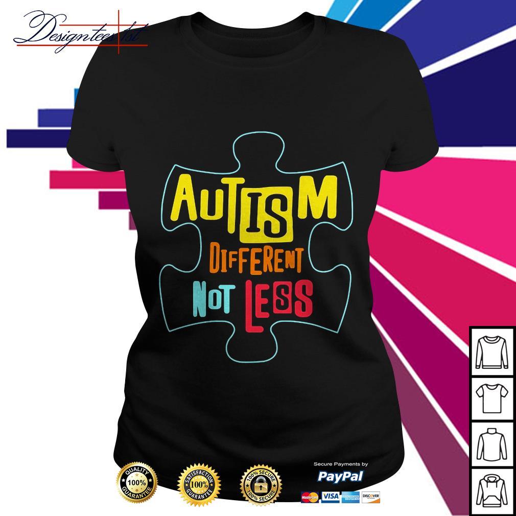 Lego autism different not less Ladies Tee