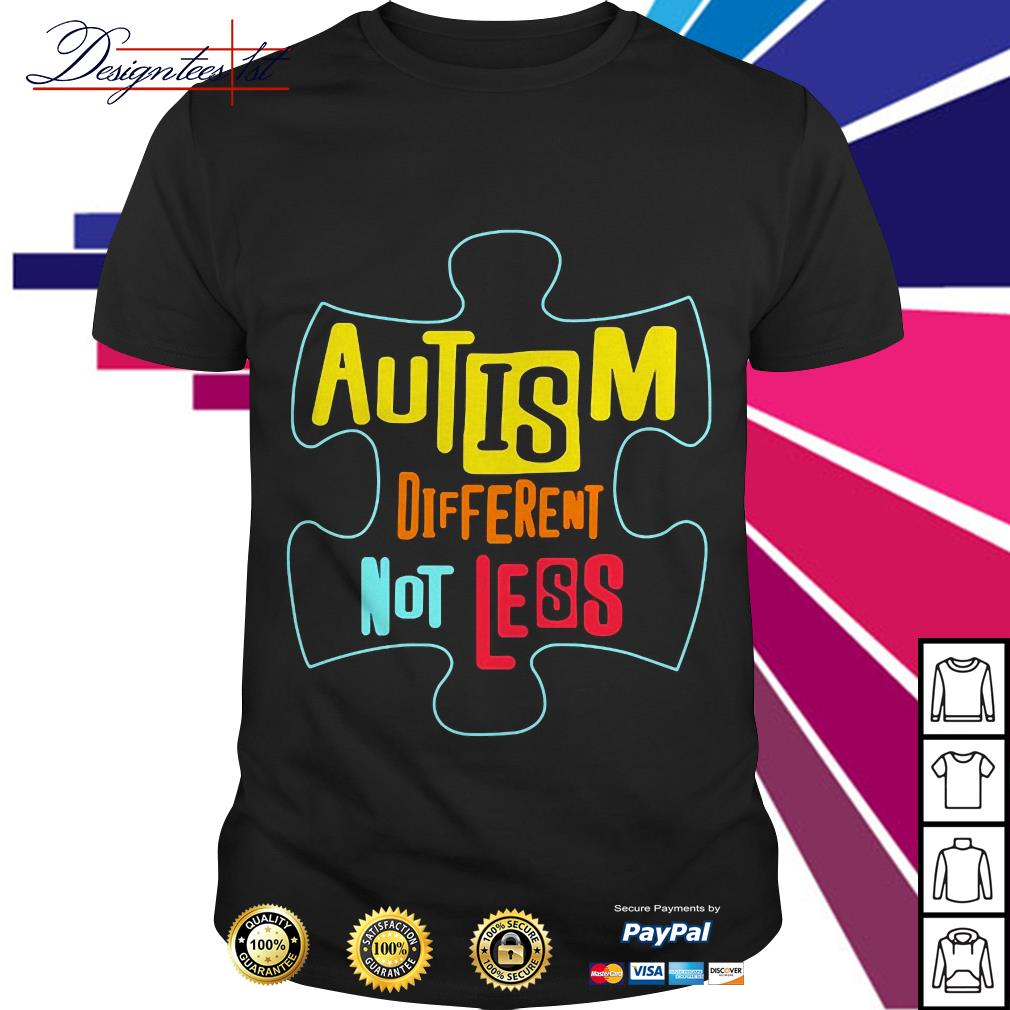 Lego autism different not less shirt
