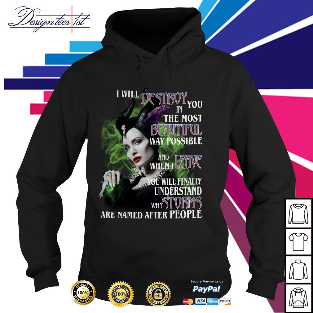 Maleficent I will destroy you in the most beautiful way possible Hoodie