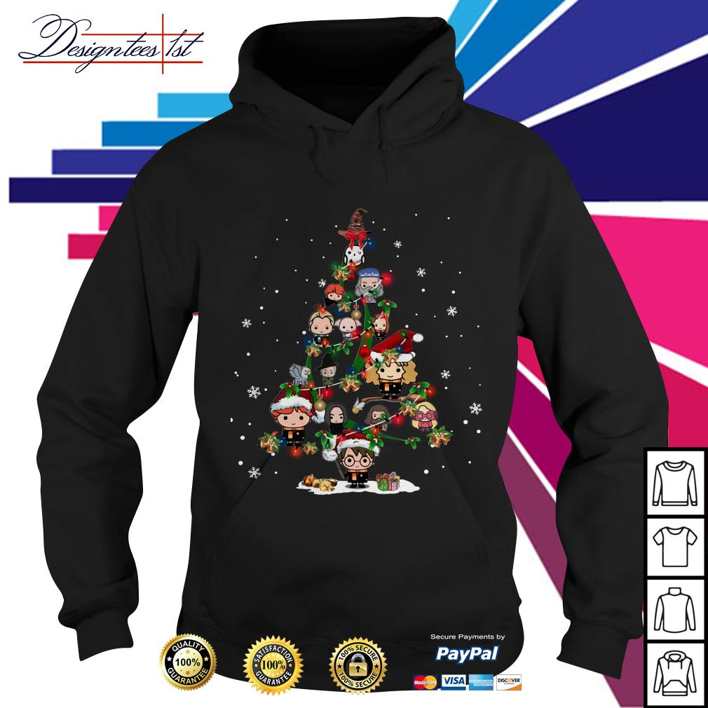 Merry Christmas Harry Potter chibi tree Hoodie