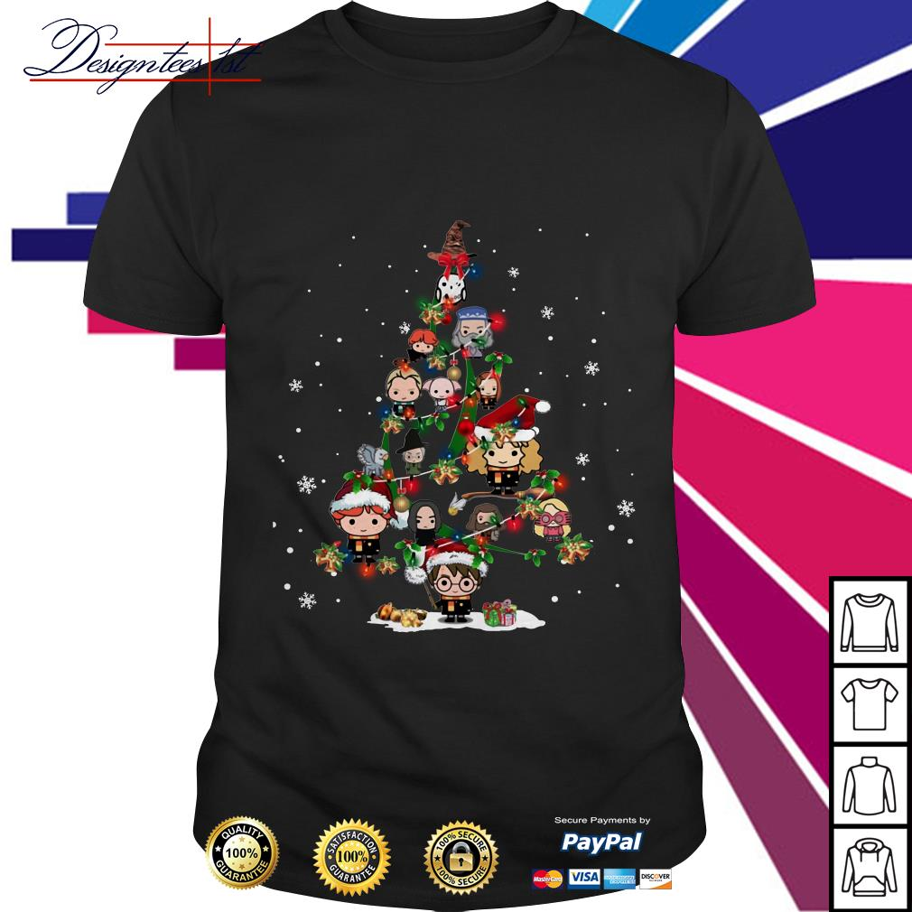 Merry Christmas Harry Potter chibi tree shirt, sweater