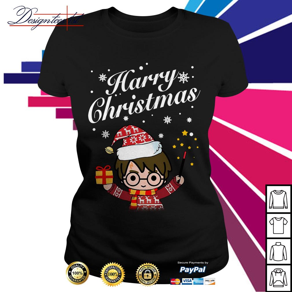 Merry Christmas Harry Potter Harry Christmas Ladies Tee