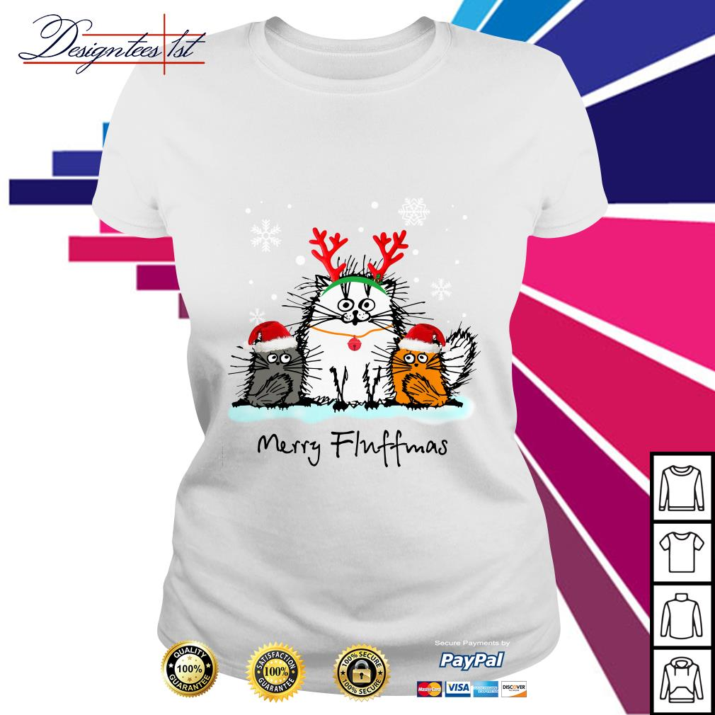 Merry Christmas Merry Fluffmas Ladies Tee