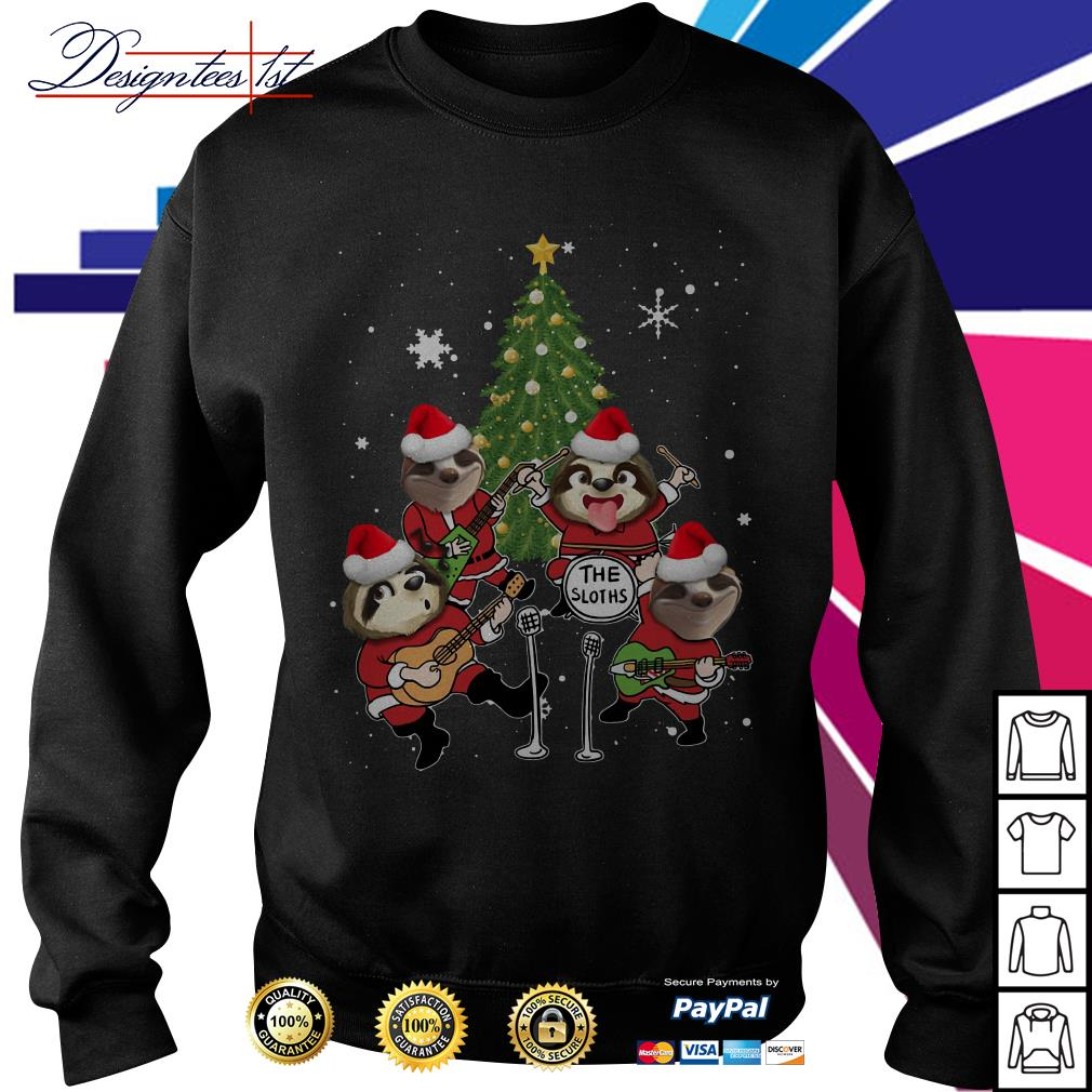 Merry Christmas the sloths band play guitar shirt, sweater