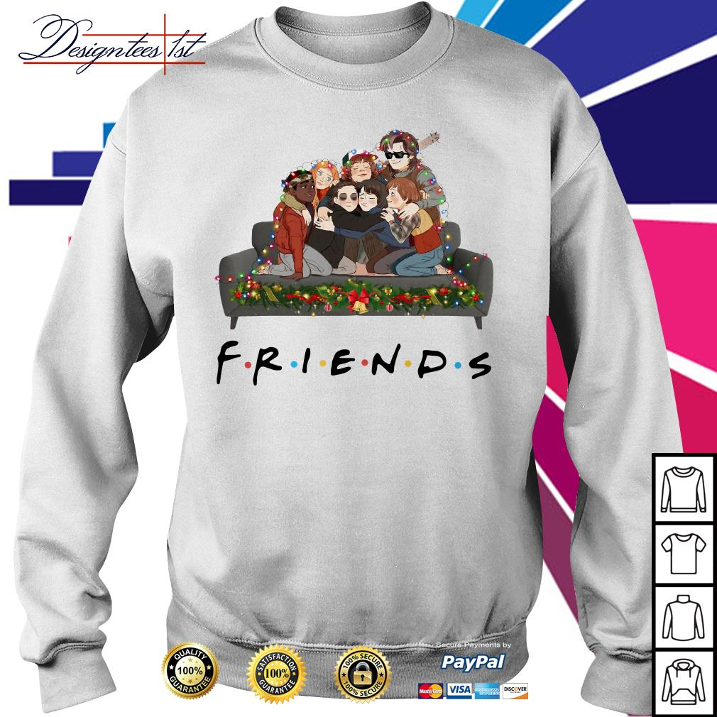 Merry Christmas Stranger Things Friends TV show shirt, sweater