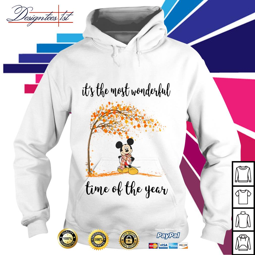 Mickey Mouse and autumn leaf tree it's the most wonderful time of year Hoodie