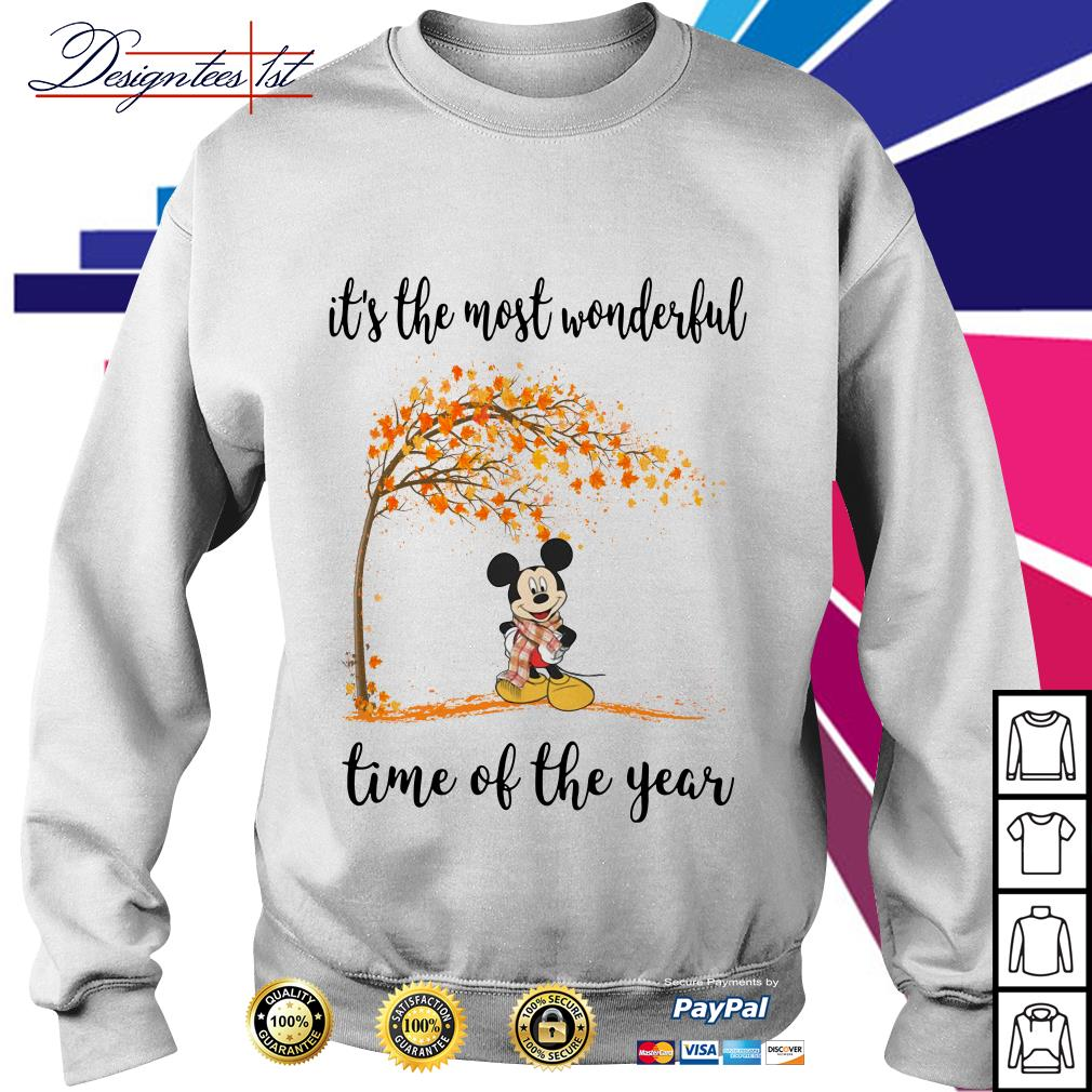 Mickey Mouse and autumn leaf tree it's the most wonderful time of year Sweater