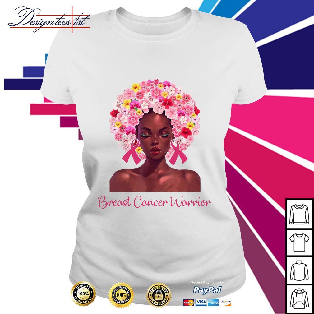 Pretty Black woman breast cancer warrior Ladies Tee