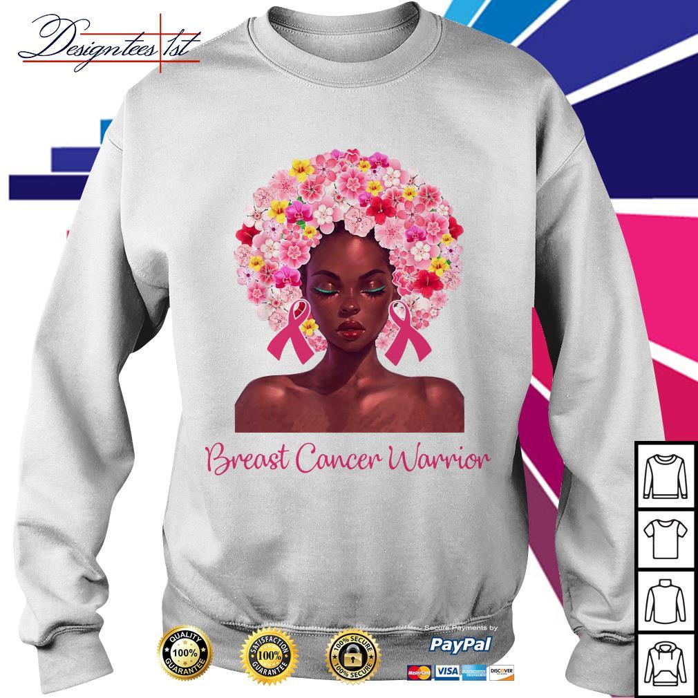 Pretty Black woman breast cancer warrior Sweater