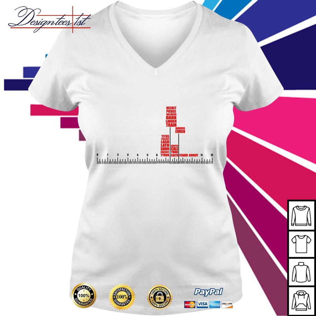 Ruler Beckett price Valarian Dark Lander train Andrius Evren V-neck T-shirt