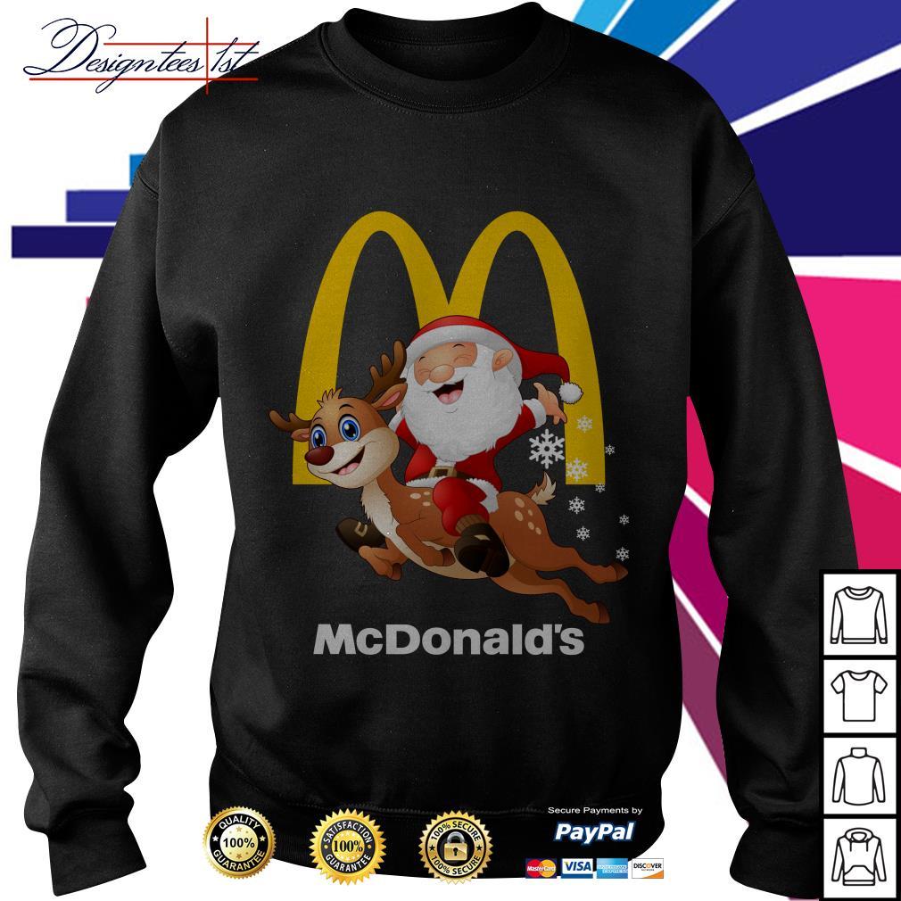 Santa Claus riding a reindeer Mcdonalds Sweater
