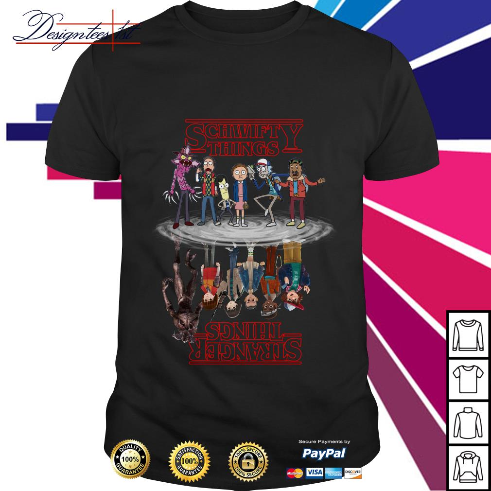 Schwifty Things water reflection mirror Stranger Things shirt