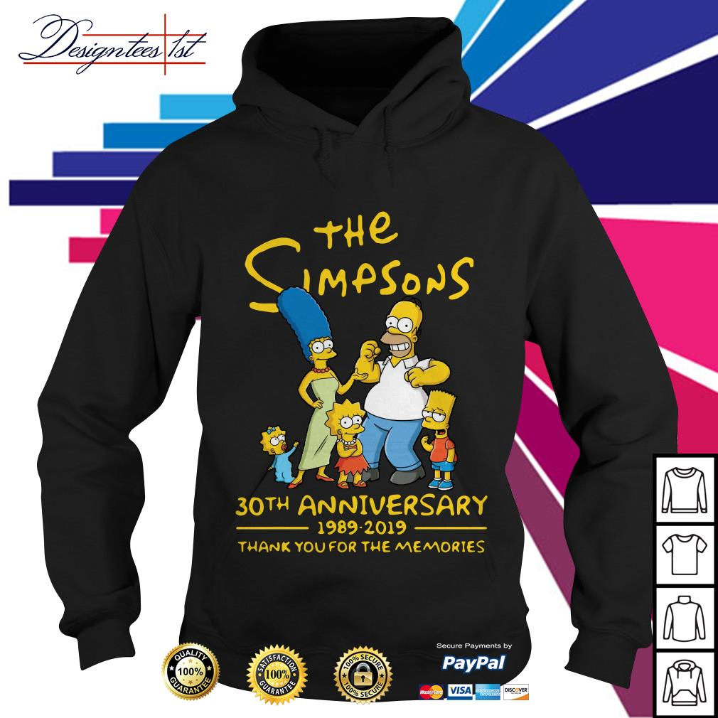 The Simpsons 30th anniversary 1989-2019 thank you for the memories Hoodie