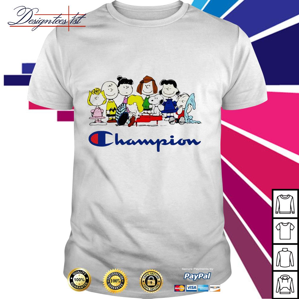 Snoopy Charlie Brown and friends Peanuts champion shirt