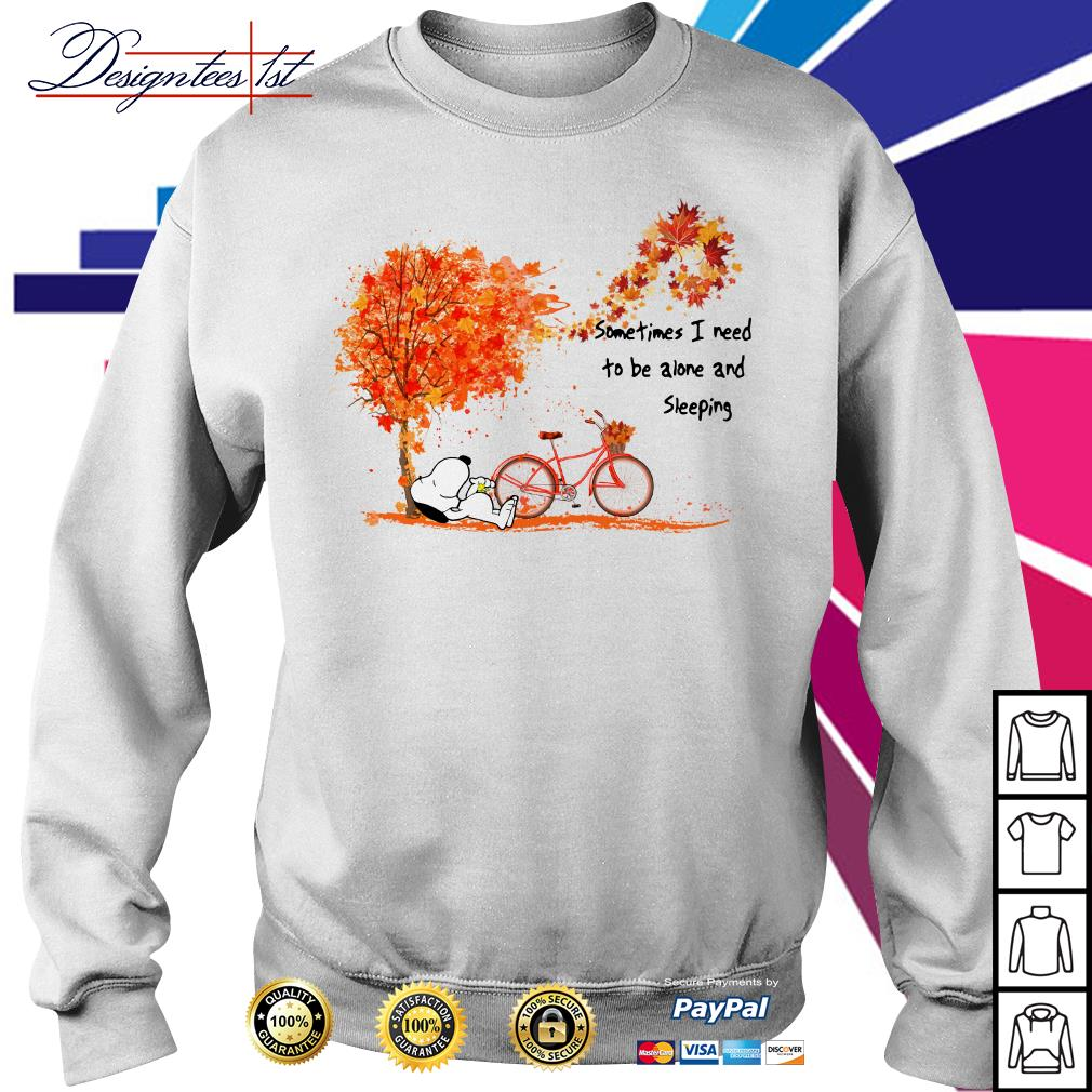 Snoopy Dog Sometimes I need to be alone and Sleeping Sweater