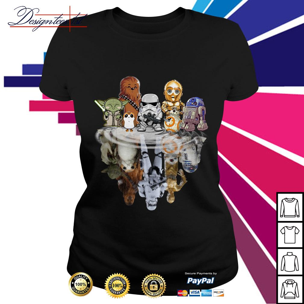 Star Wars chibi water reflection mirror Ladies Tee