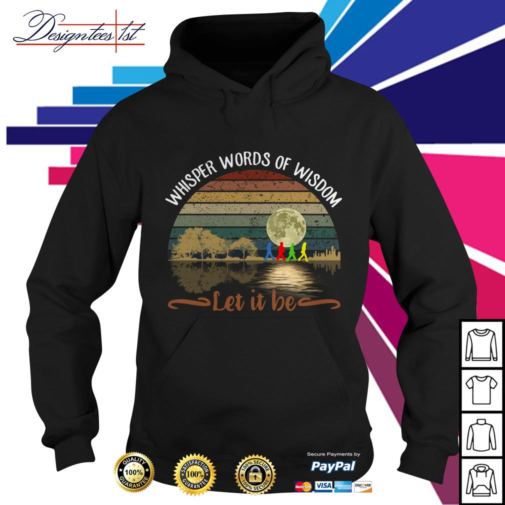 The Beatles Abbey road whisper words of wisdom let it be Hoodie