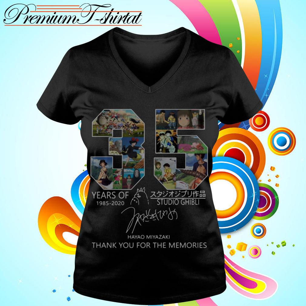 35 years of Studio Ghibli 1985-2020 thank you for the memories shirt