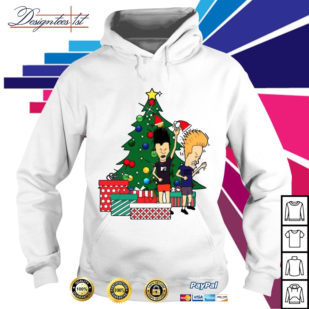 Beavis and Butthead Around the Christmas tree Hoodie