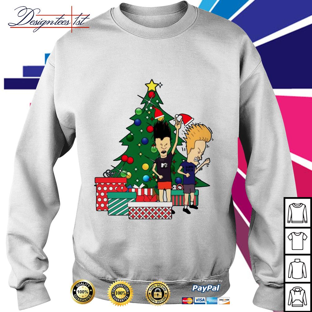 Beavis and Butthead Around the Christmas tree shirt, sweater