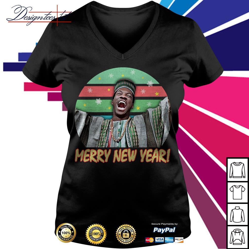 Billy Ray Valentine Merry New Year vintage V-neck T-shirt