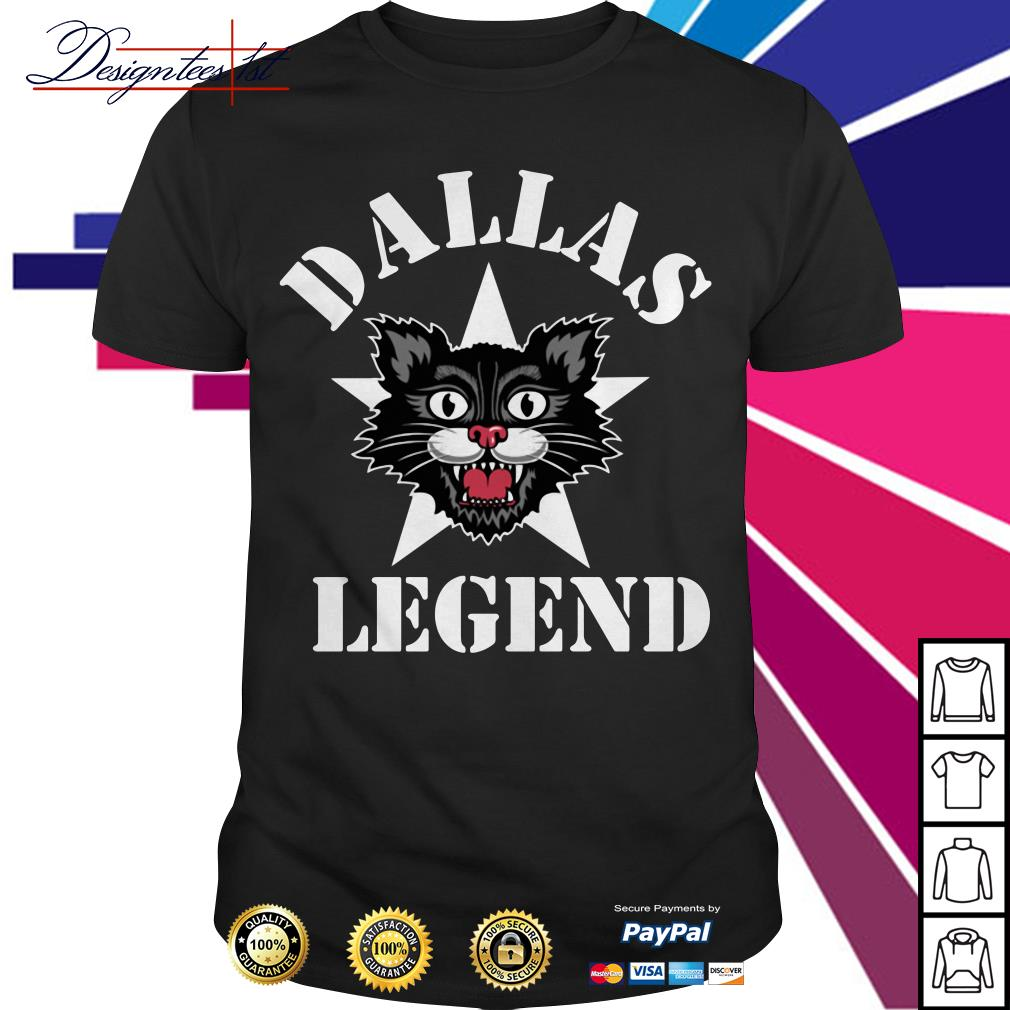 Black cat Dallas Legend shirt