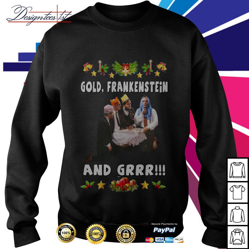 Bottom Richie and Eddie Gold Frankenstein and grrr shirt, sweater