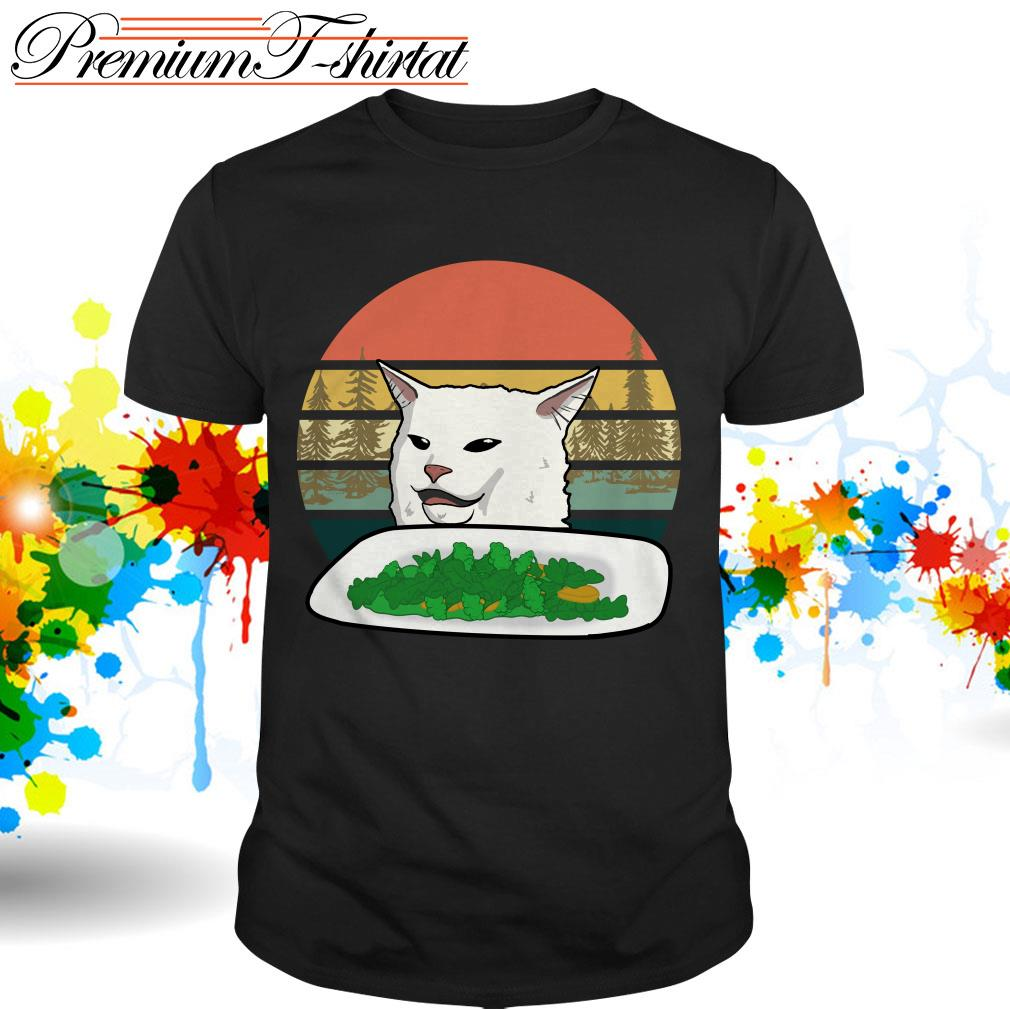 Cat dinner table meme shirt