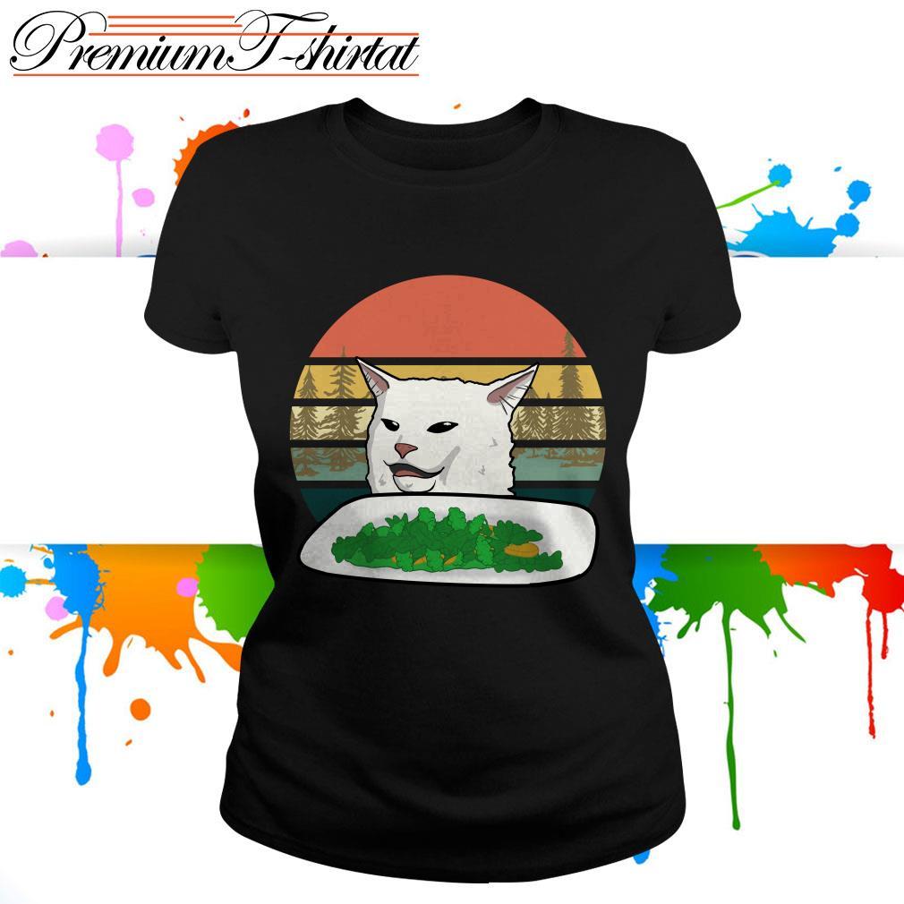 Cat dinner table meme shirt