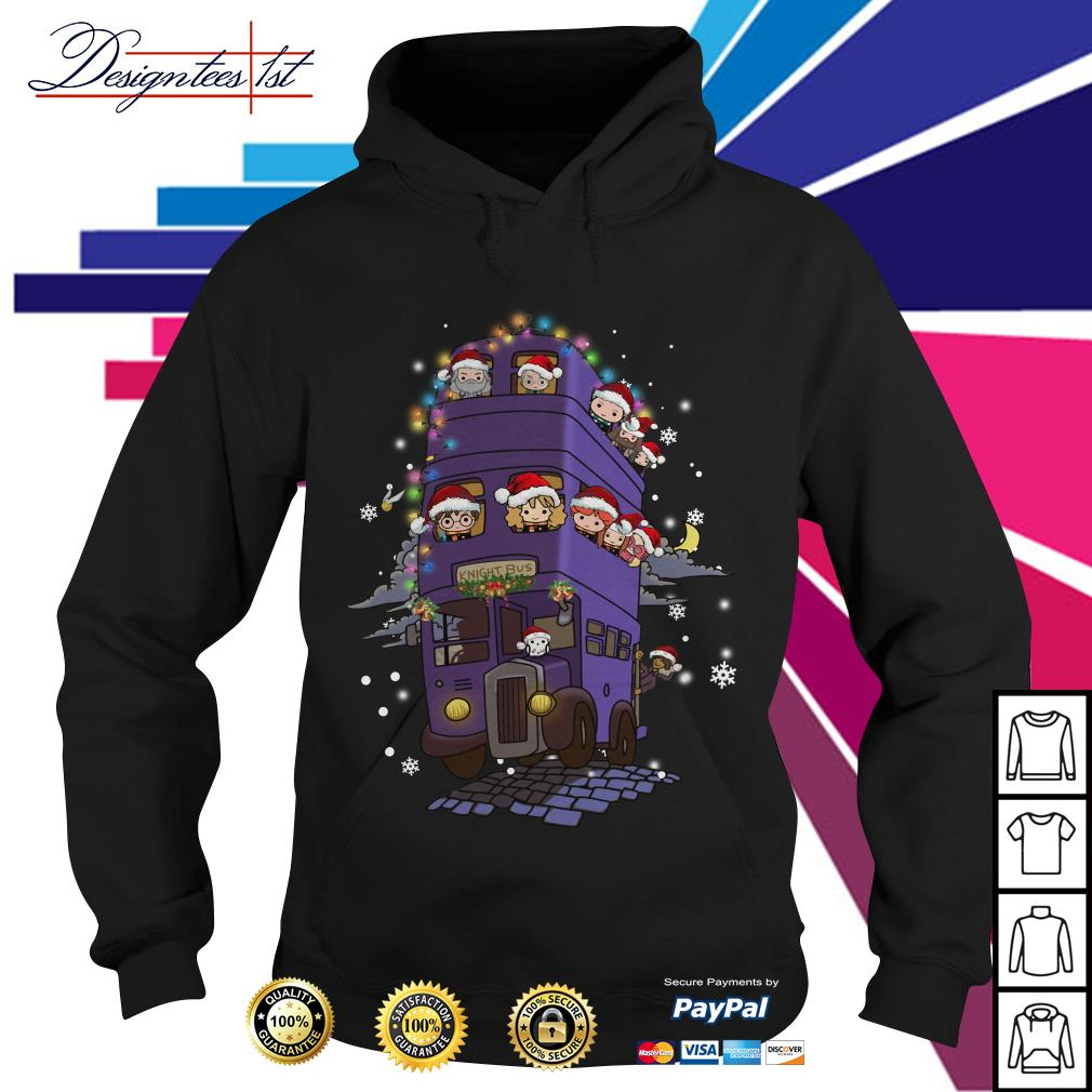 Harry Potter Chibi characters knight bus Hoodie