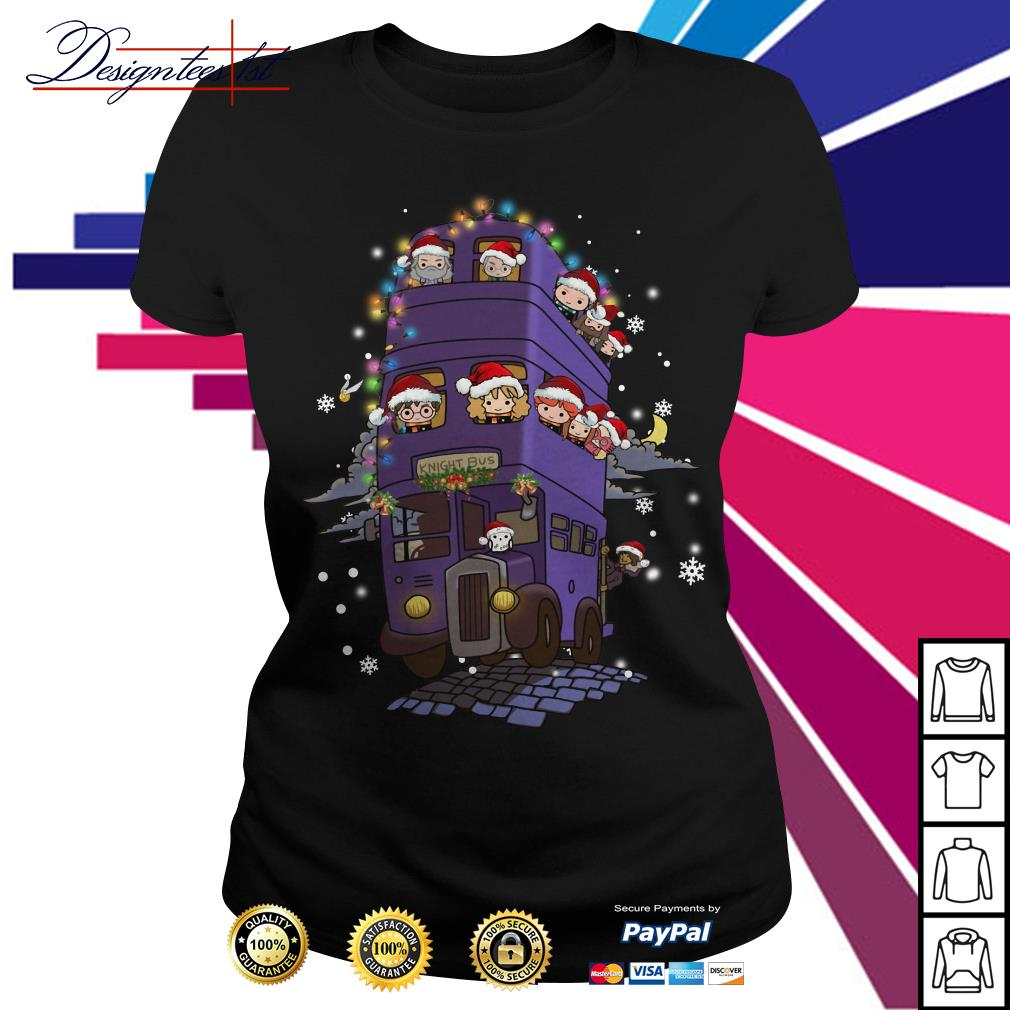 Harry Potter Chibi characters knight bus Ladies Tee
