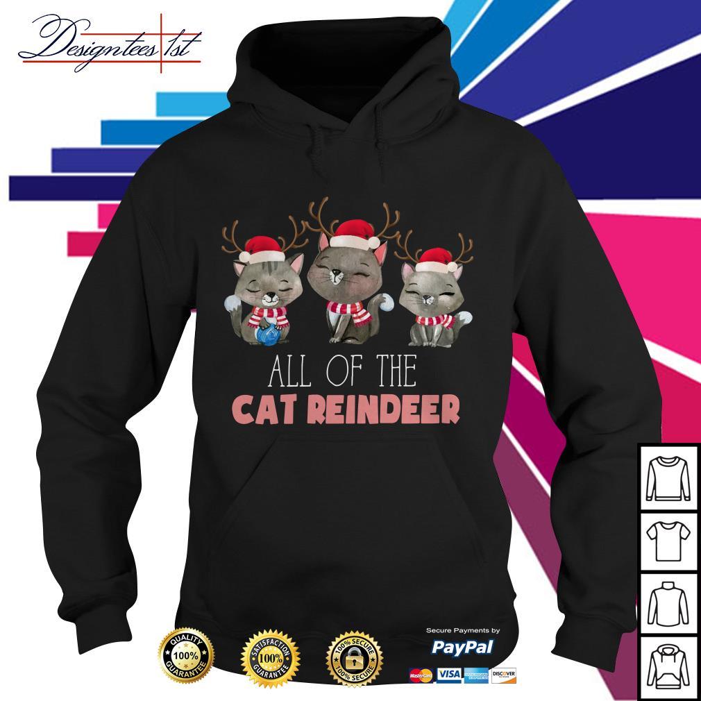 Merry Christmas all of the cat reindeer Hoodie