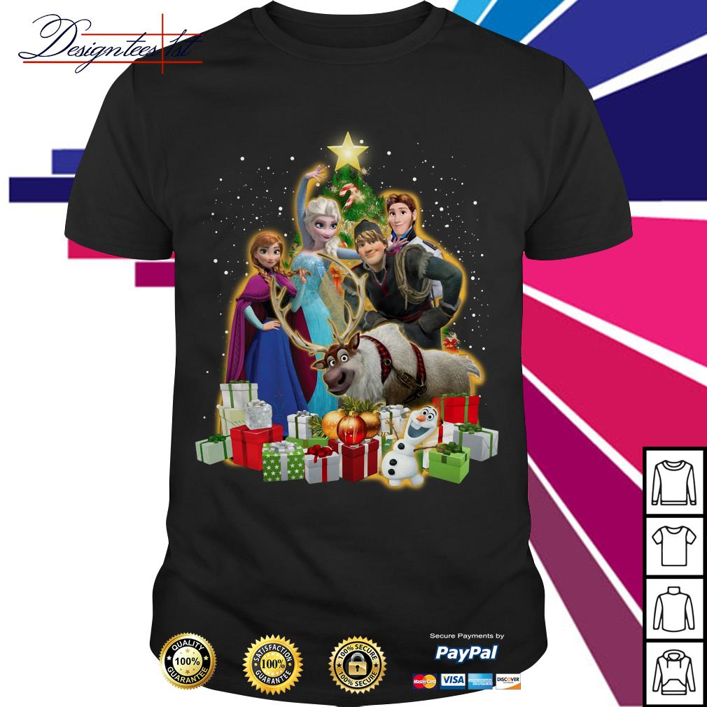 Merry Christmas Disney Frozen characters Christmas tree shirt, sweater