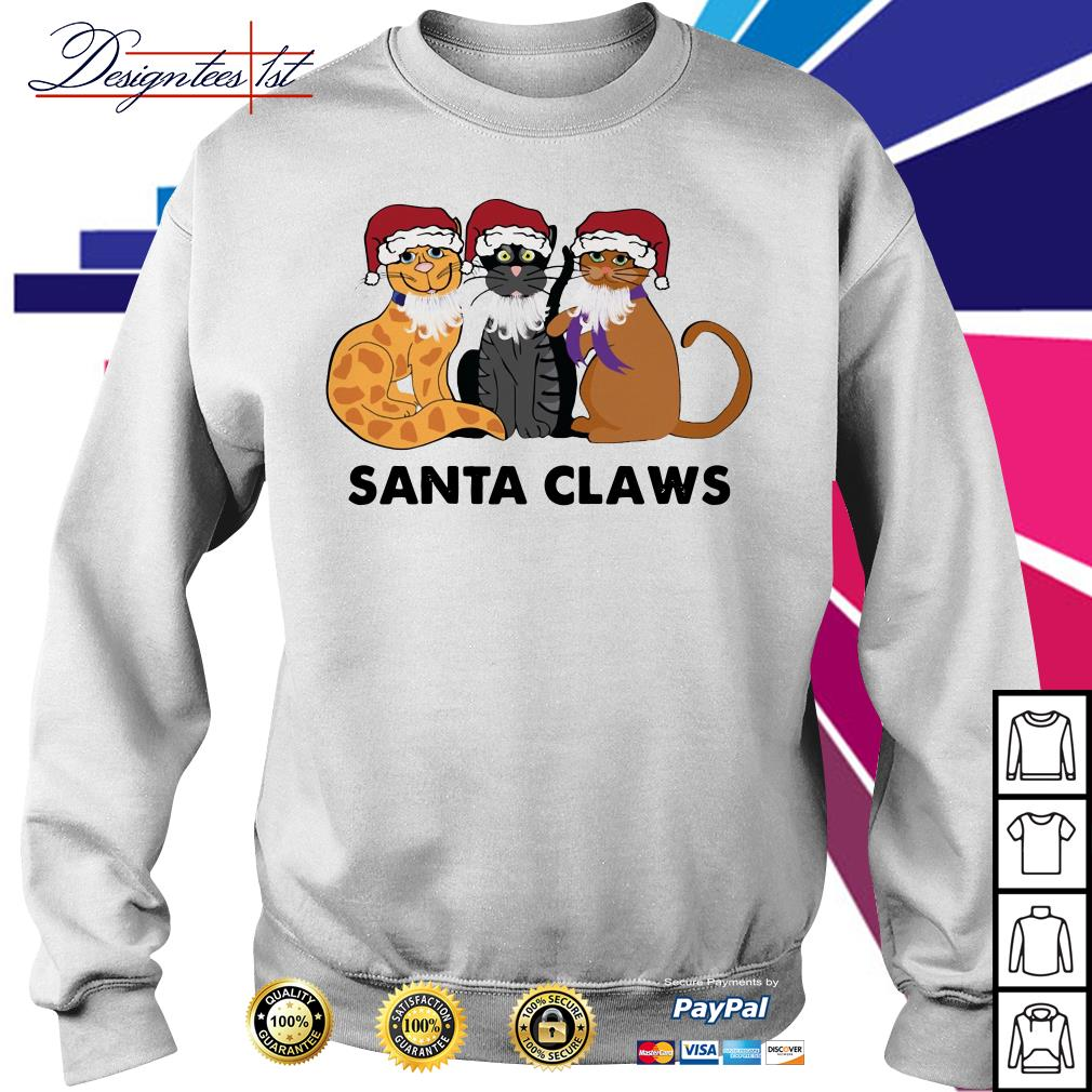 Merry Christmas Santa Claws cats shirt, sweater