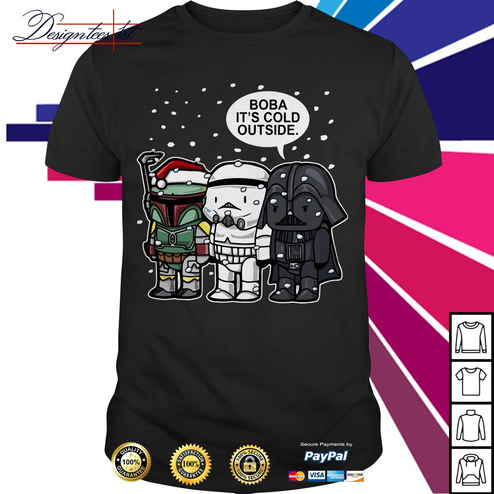 Merry Christmas Star Wars Boba it's cold outside shirt, sweater