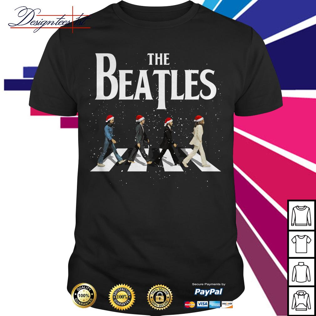 Merry Christmas The Beatles Abbey Road shirt, sweater