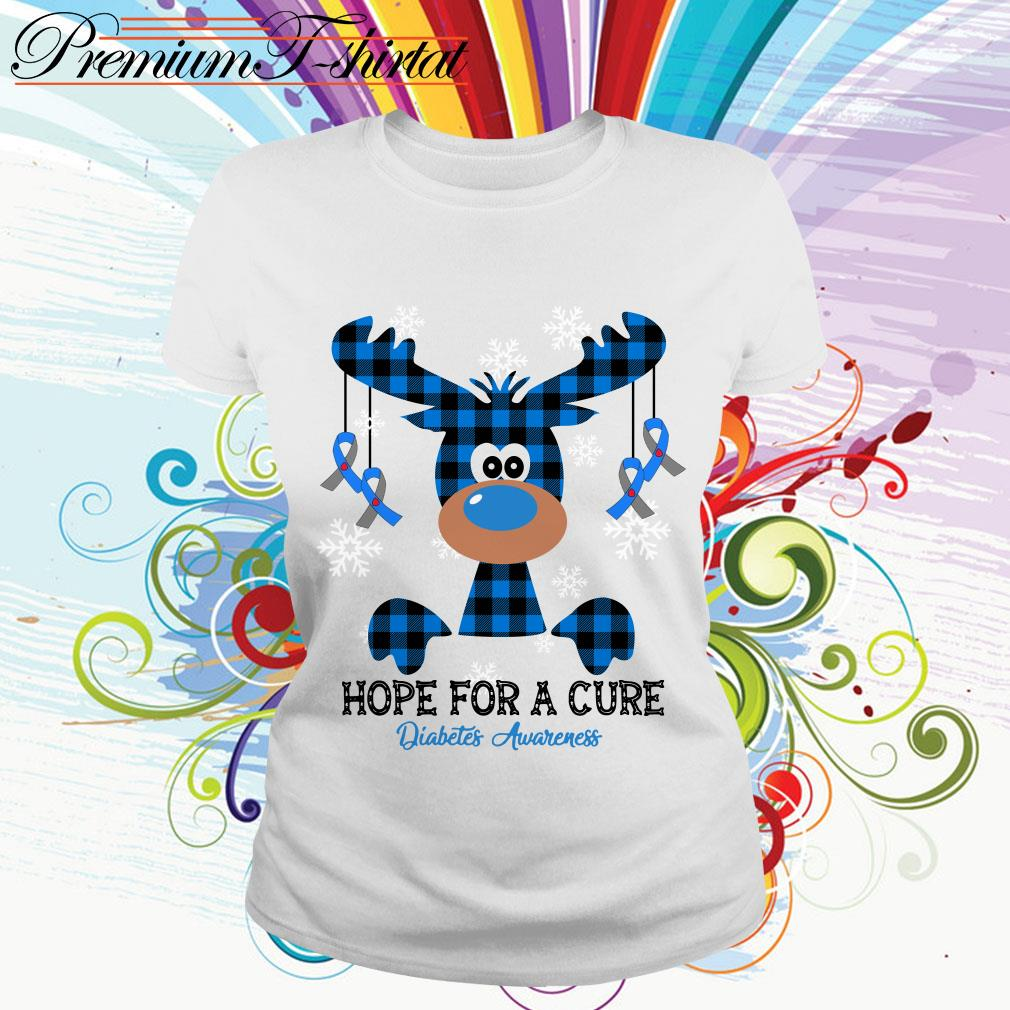 Reindeer hope for a cure diabetes awareness shirt
