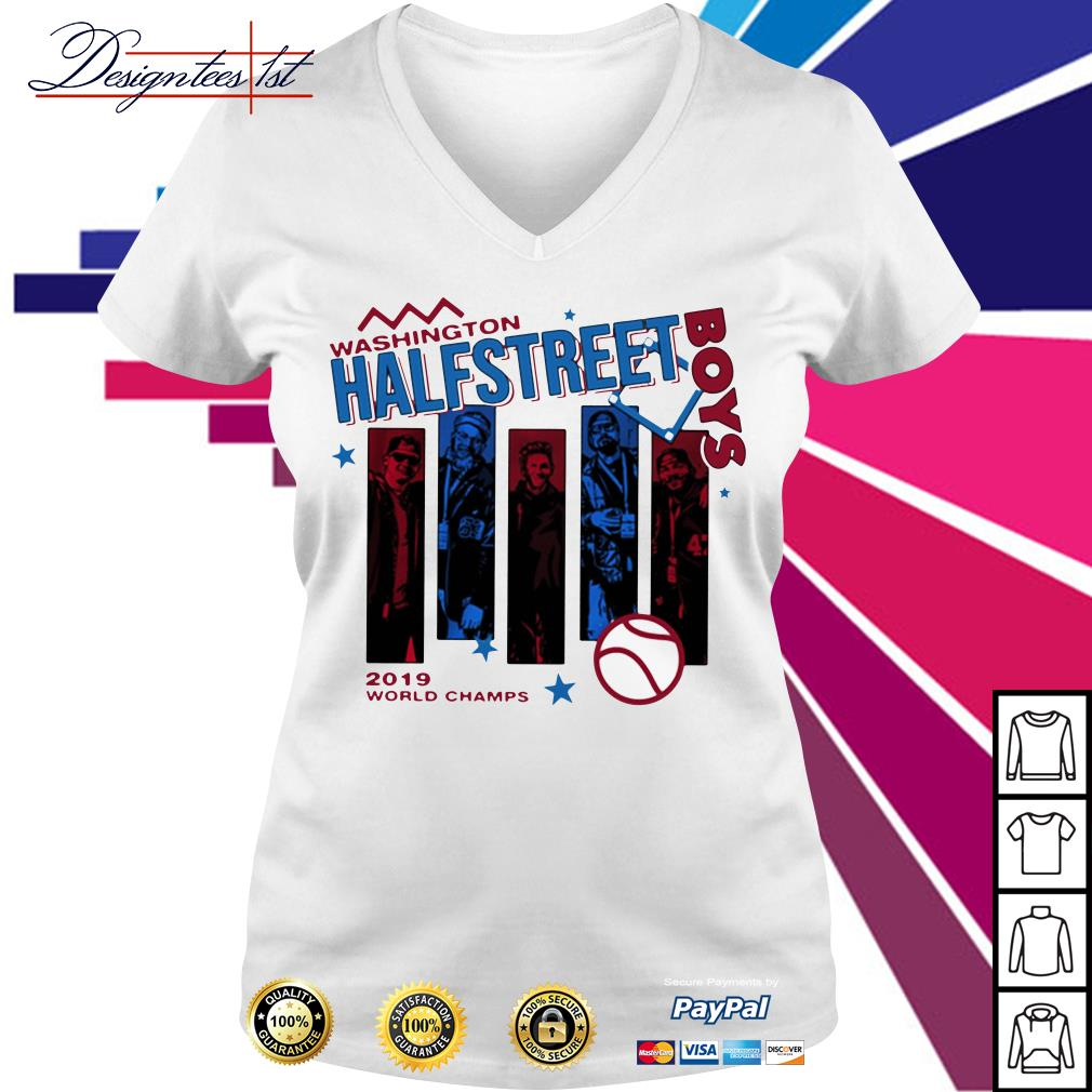 Washington half Street Boys 2019 world champs V-neck T-shirt
