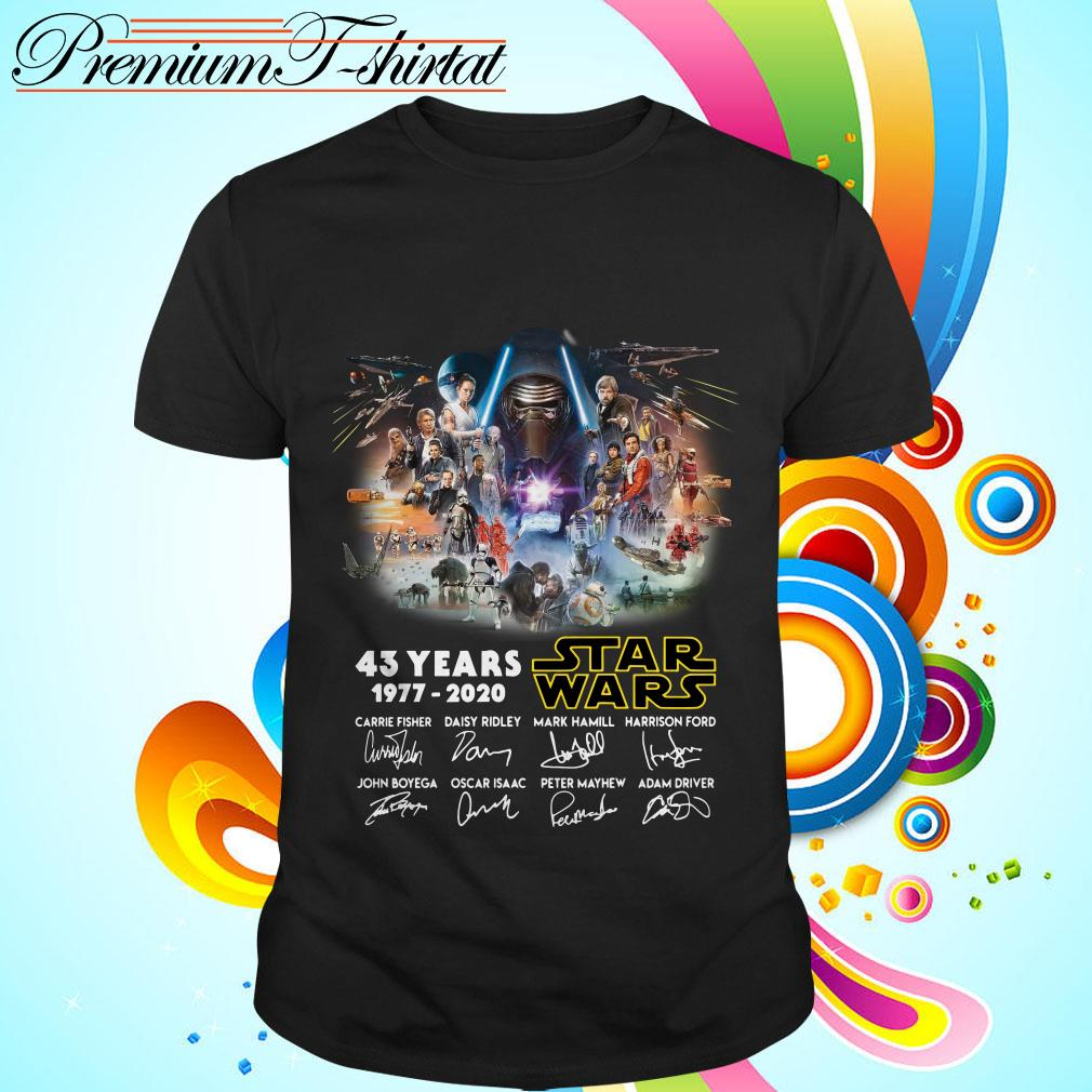 43 years Star Wars 1977-2020 signatures shirt