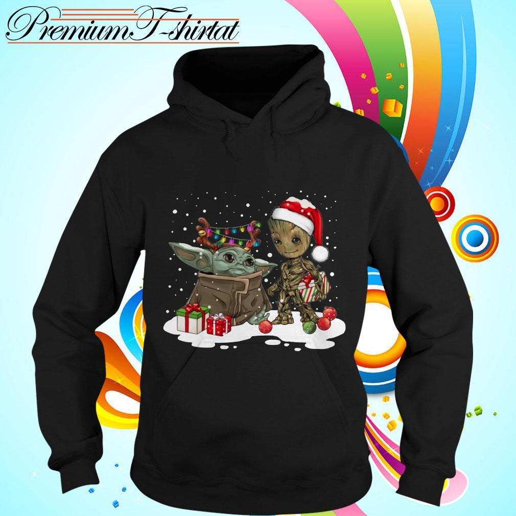 Baby Yoda and Groot Santa Christmas Hoodie