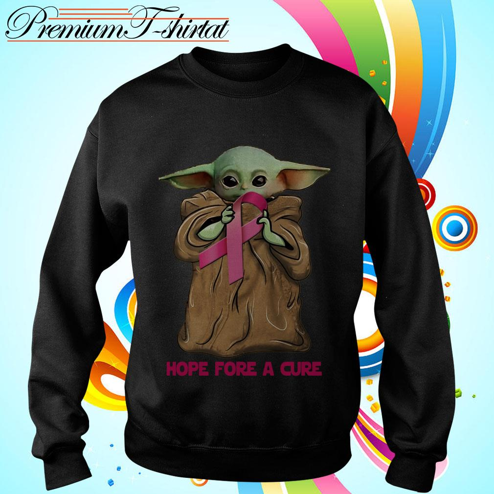Baby Yoda hug Cancer Awareness hope for a cure Sweater