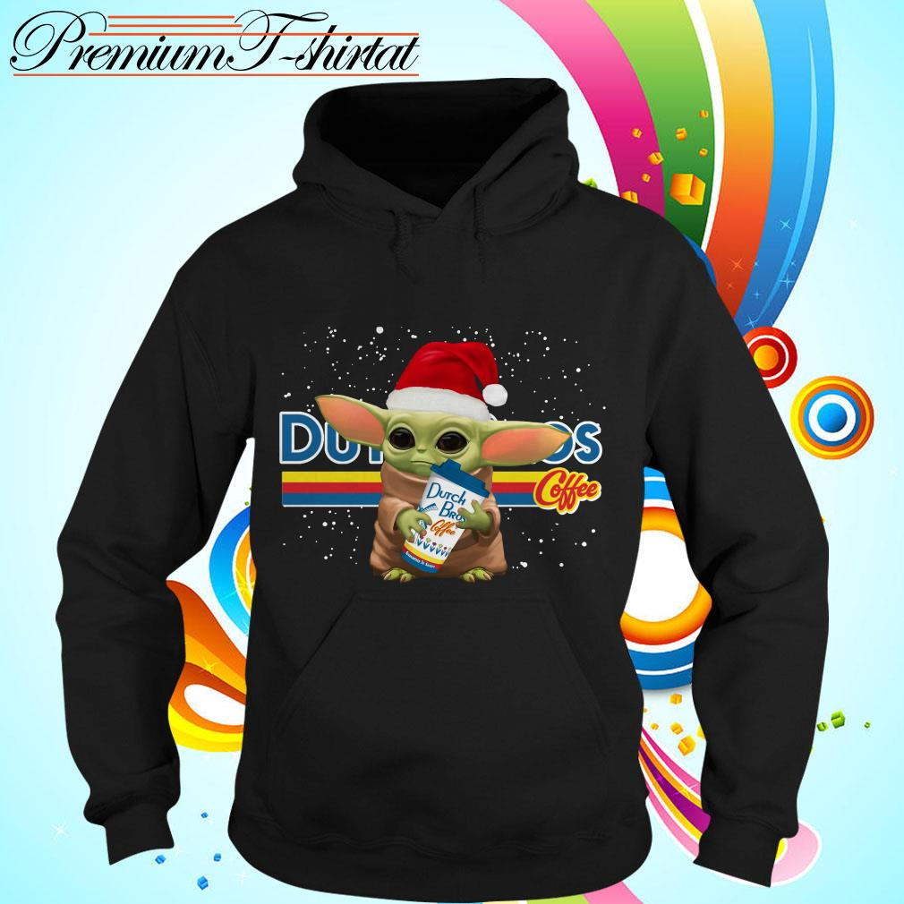 Baby Yoda hug Dutch Bros coffee Christmas shirt, sweater Hoodie