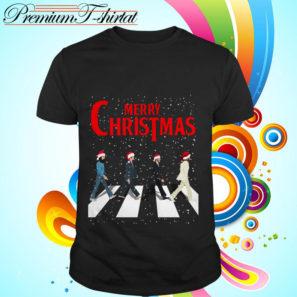 The Beatles Abbey Road Merry Christmas shirt, sweater