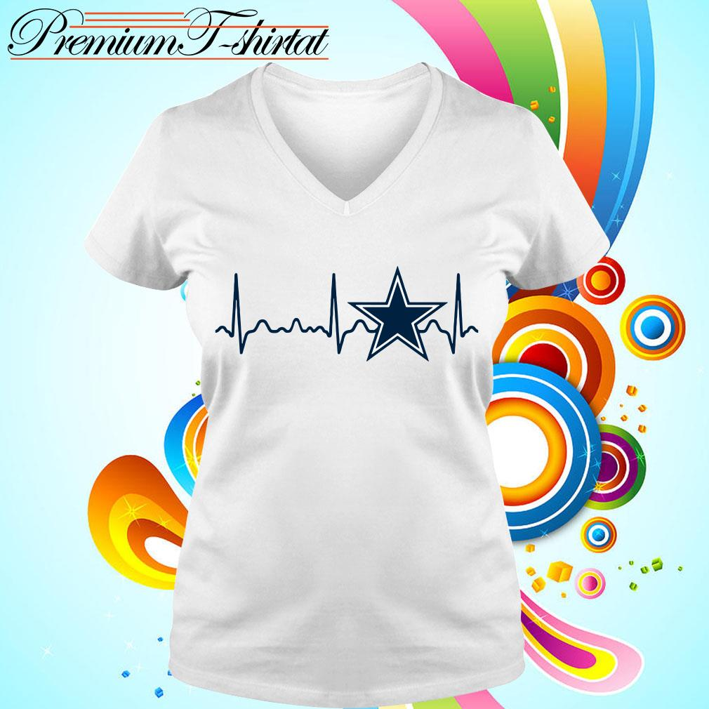 Dallas Cowboys heartbeat V-neck t-shirt