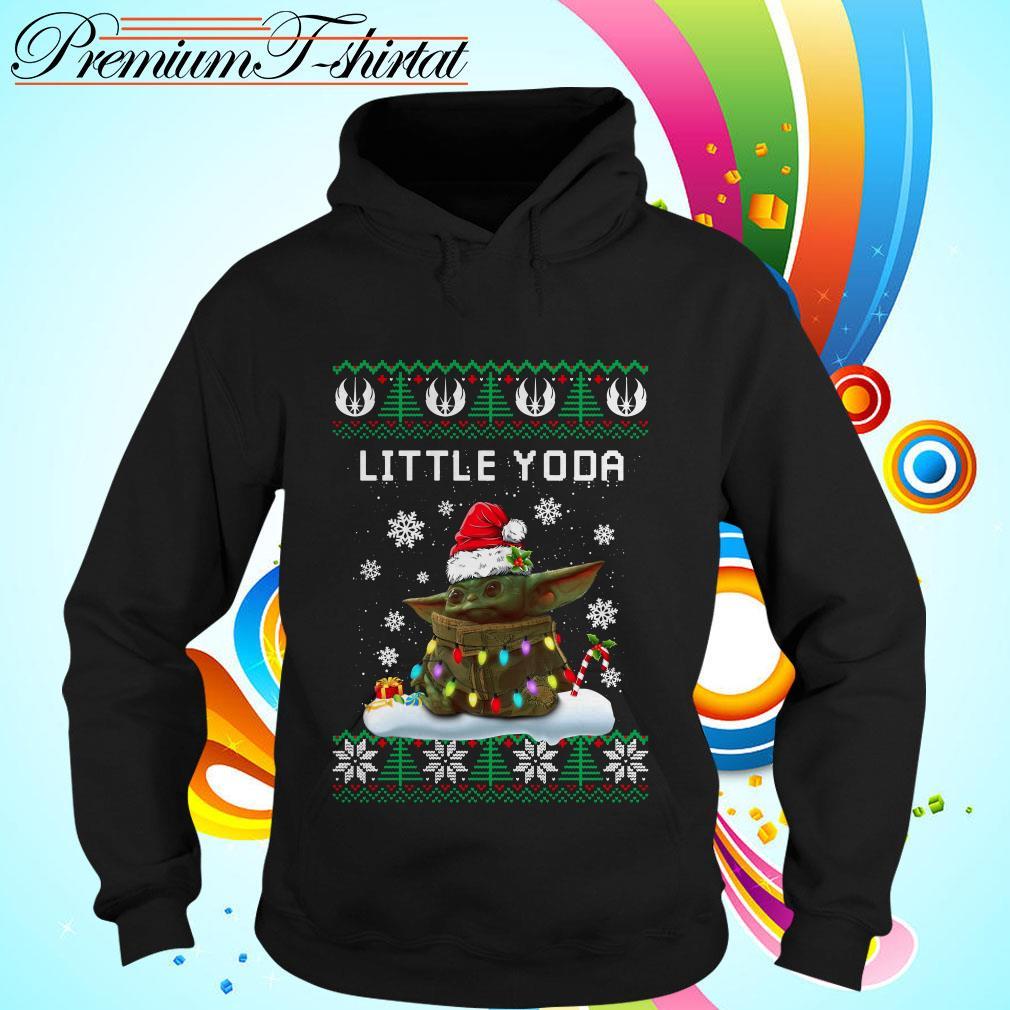 The Mandalorian little Yoda ugly Christmas Hoodie