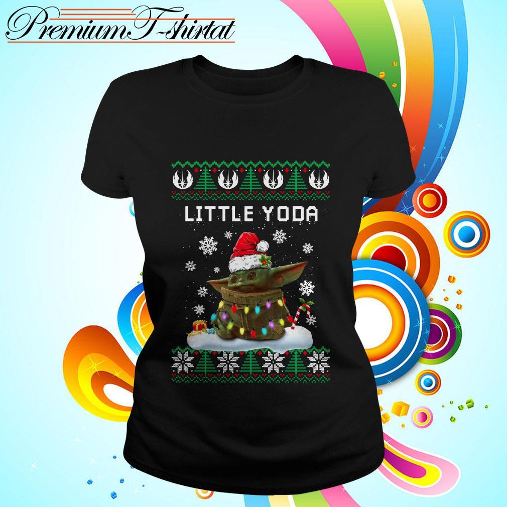 The Mandalorian little Yoda ugly Christmas Ladies tee