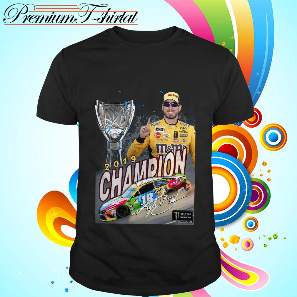 M&M's Kyle Busch Joe Gibbs 2019 champion signature shirt
