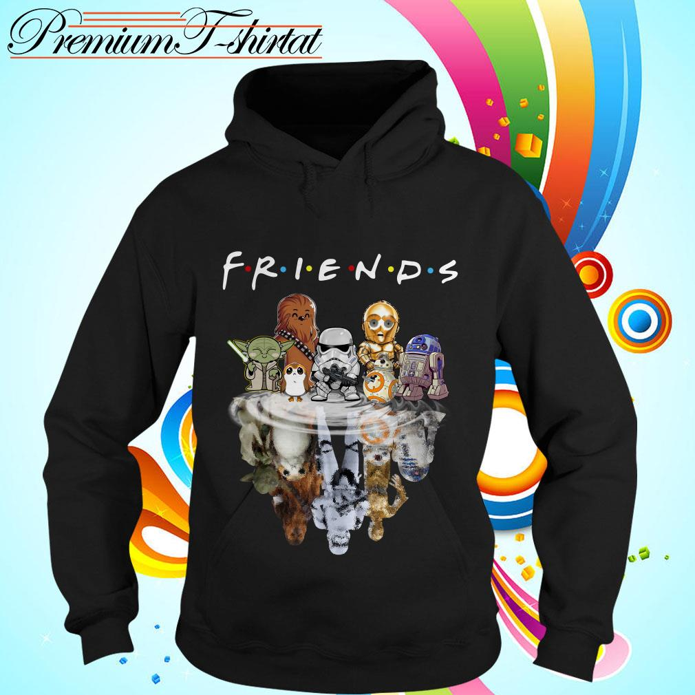 Star Wars chibi characters water reflection Friends TV show Hoodie