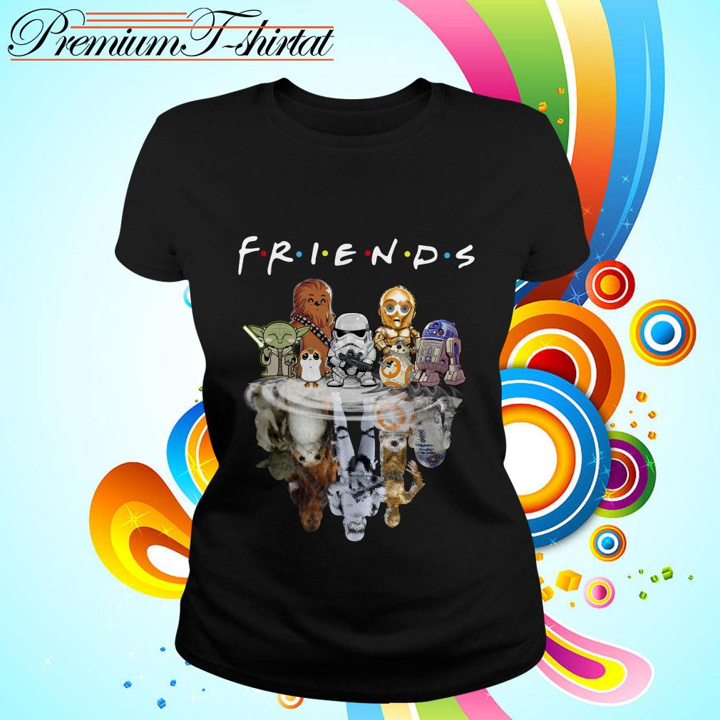 Star Wars chibi characters water reflection Friends TV show Ladies tee